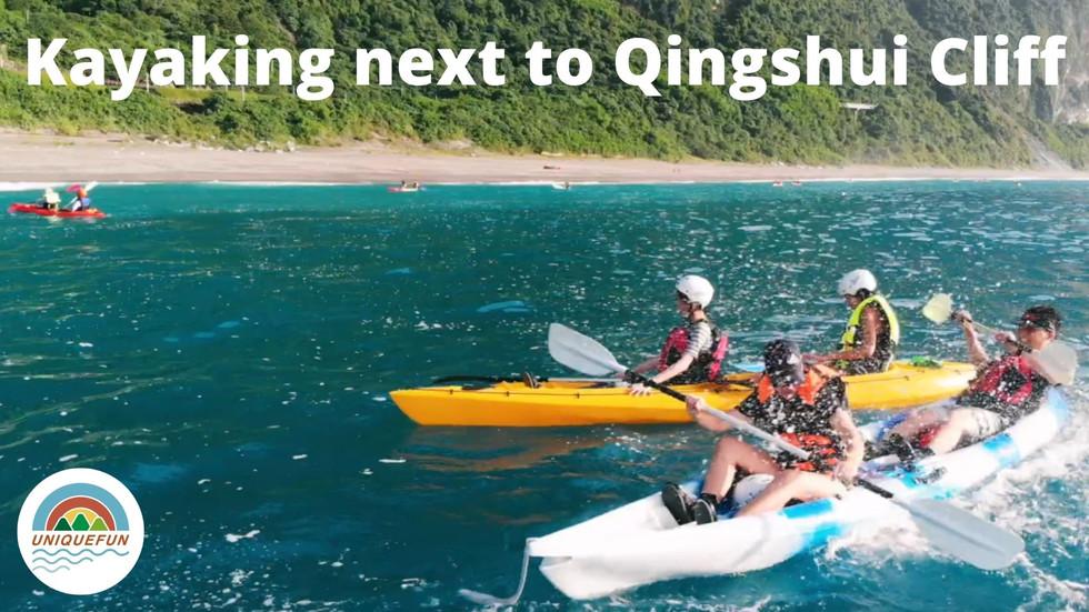 Kayaking on the Ocean next to Qingshui Cliff in Hualien.mp4