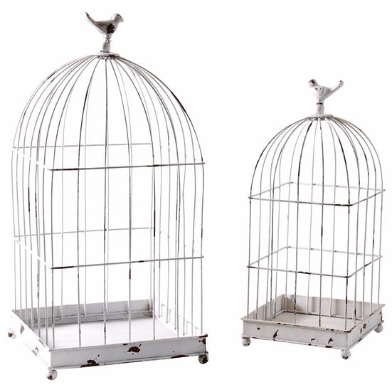 Cages en métal laqué