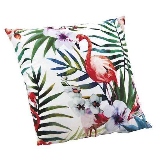 Coussin flamant rose
