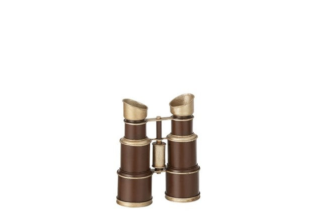 Jumelles antique métal marron