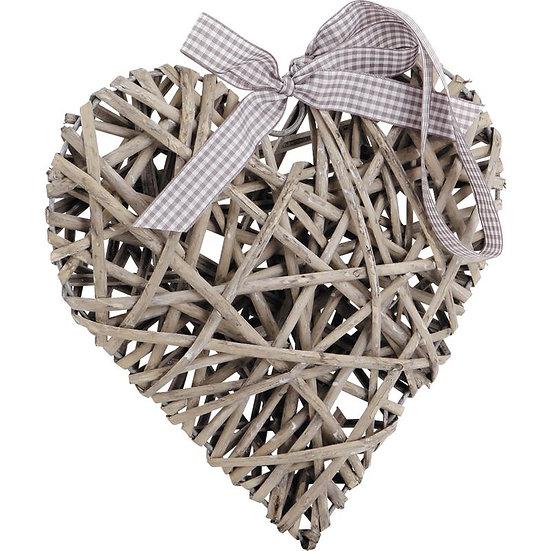 Coeur à suspendre en osier