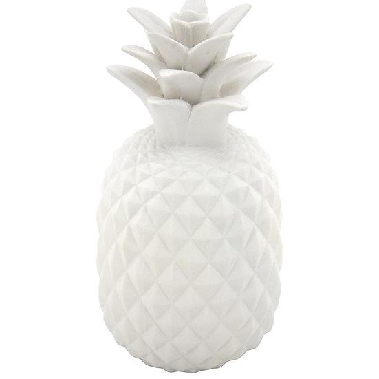 Ananas en résine blanche