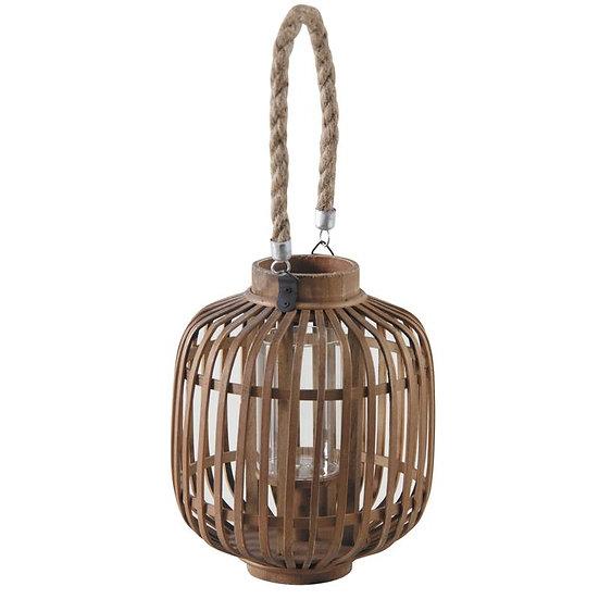 Lanterne en bambou et bois naturel
