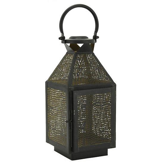 Lanterne en métal laqué intérieur doré