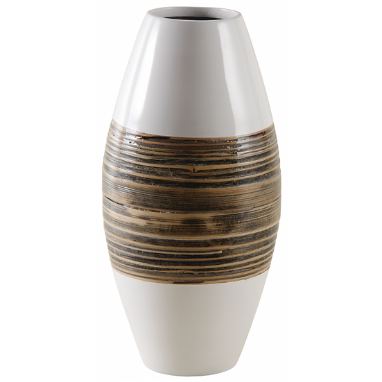 Vase en bambou laqué