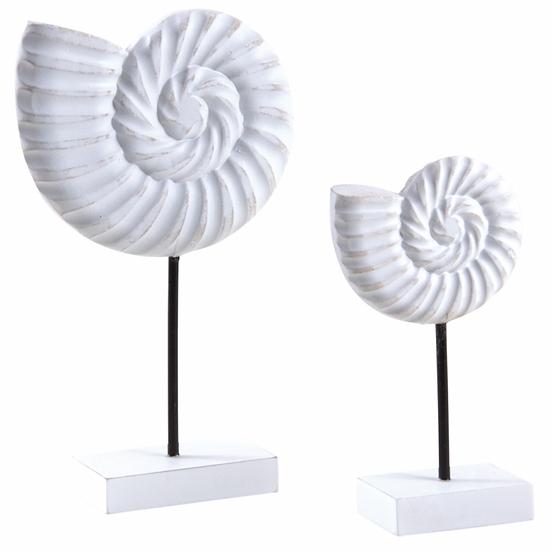 Nautilus en bois blanc avec pieds en métal noir