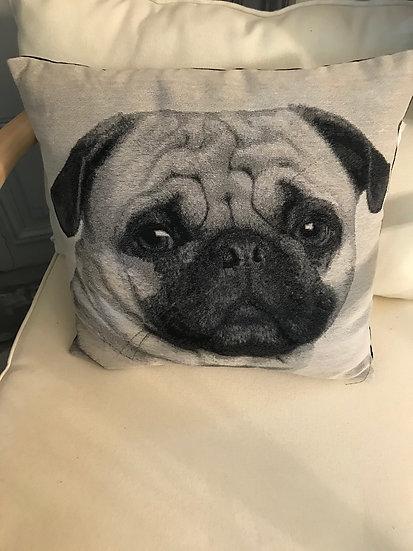 Coussin chien en coton