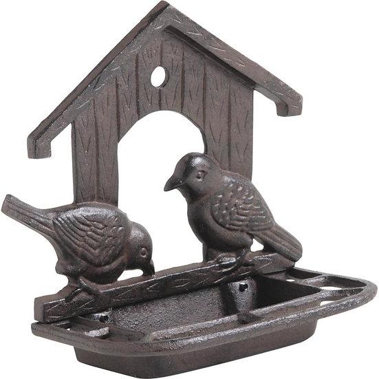 Mangeoire à oiseaux murale en fonte