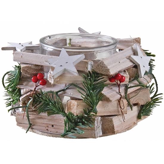 Photophore Noël en bois