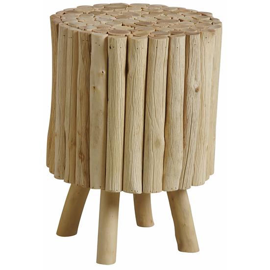 Tabouret rond en bois avec pieds
