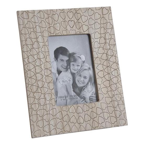 Cadre photo en bois et verre