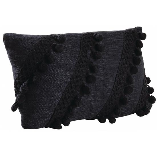 Coussin en coton noir