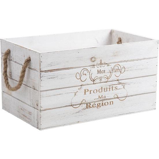 Caisse de rangement en bois teinté