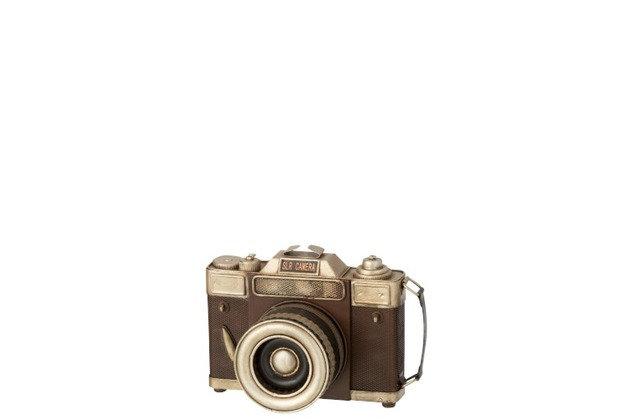 Appareil photo antique métal marron