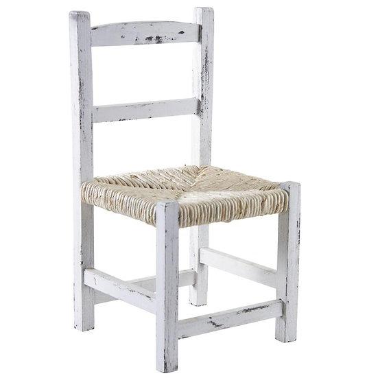 Chaise enfant en bois teinté blanc