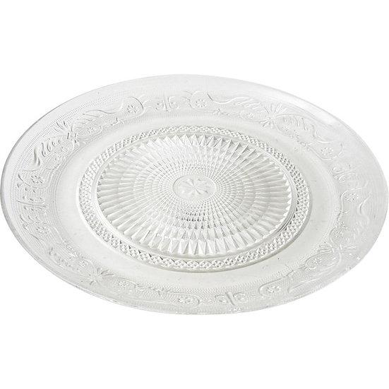 Assiette ronde en verre
