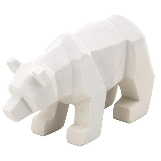 Ours en résine blanche