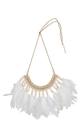 Collier déco Coquillages/Plumes