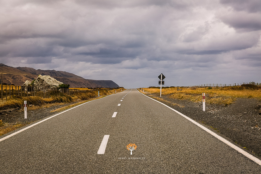 landscapes, cape palliser, travel photography, roads, horizons, rugged, road lines, paths