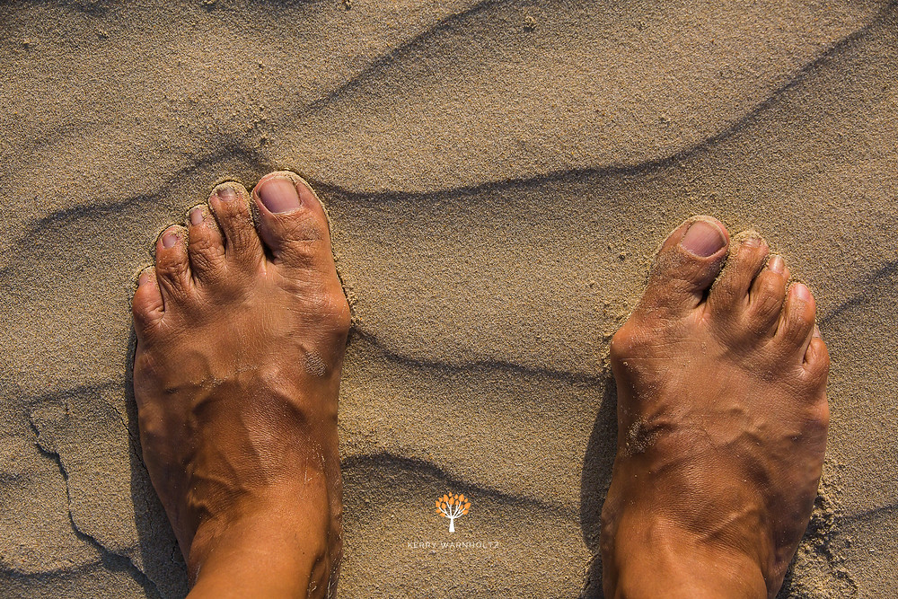 feet in the sand, beach, sand, patterns, contemplation,