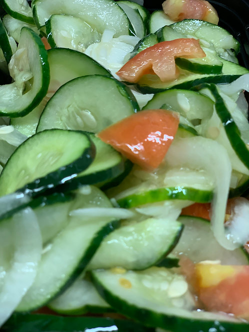 CUCUMBER, TOMATO,ONION SALAD, PURCHASE LIMITED TO HUNTERDON CREEKSIDE ONLY!