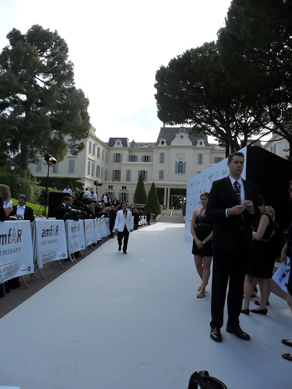 Hotel du Cap Eden Roc entrance of the AmfAR Gala