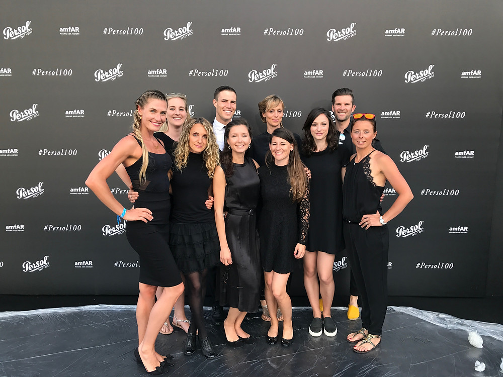 Team of hostesses at Persol Private Yacht party