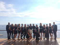 Team working at the Hotel du Cap