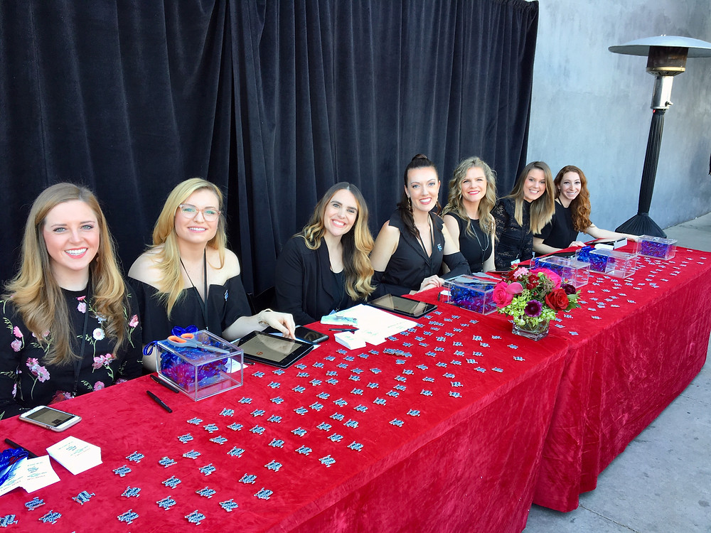 Hostesses at check in