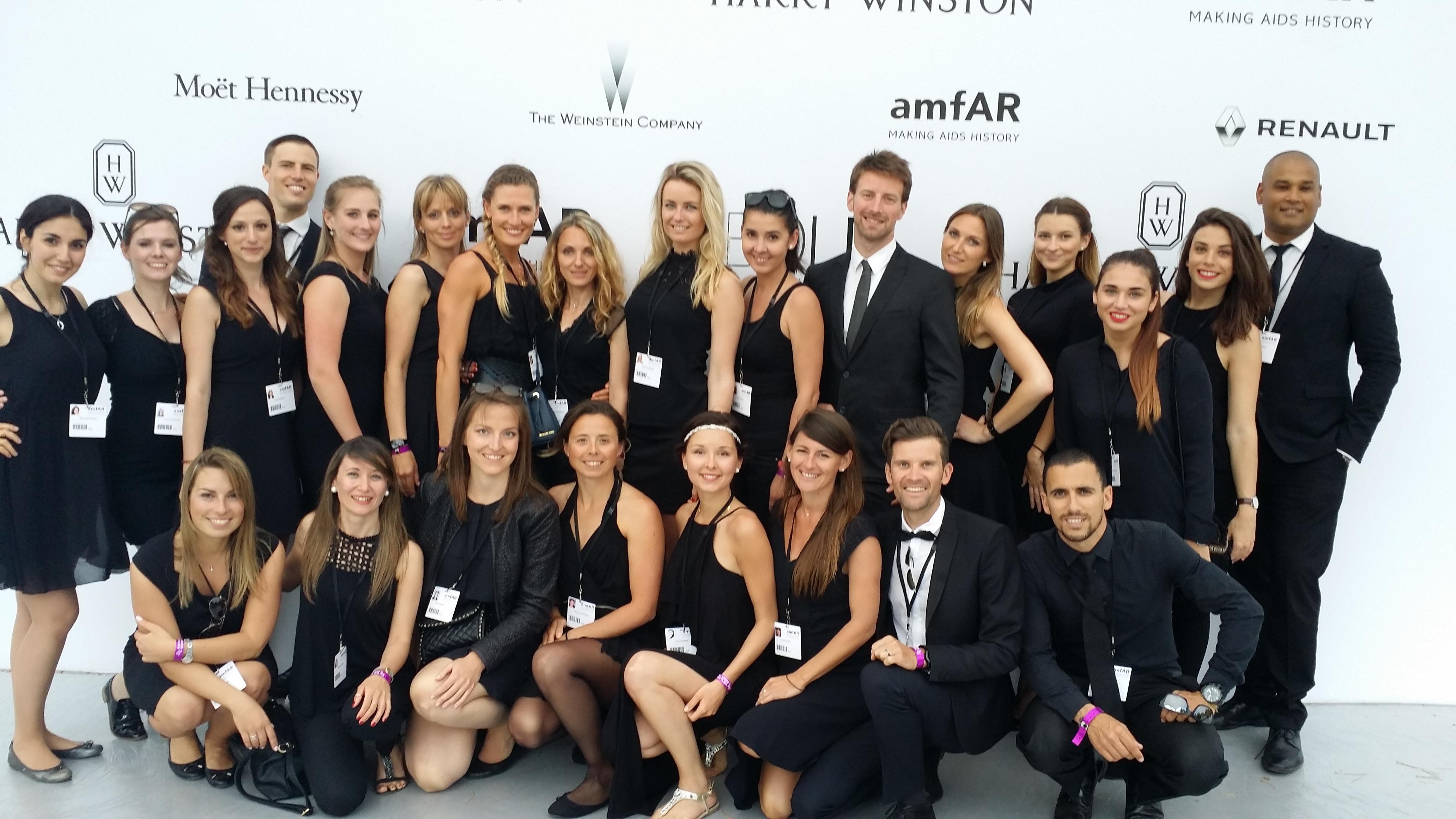amfAR host and hostess team
