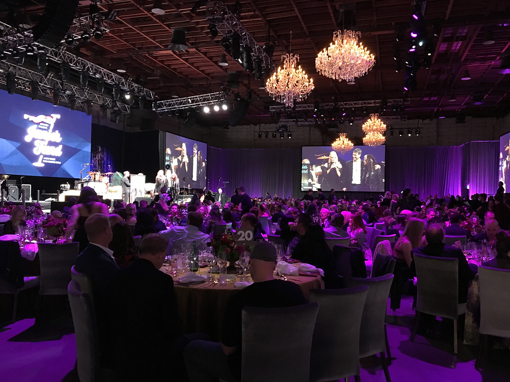 Gala dinner and Grammy broadcast at Janie's Fund event
