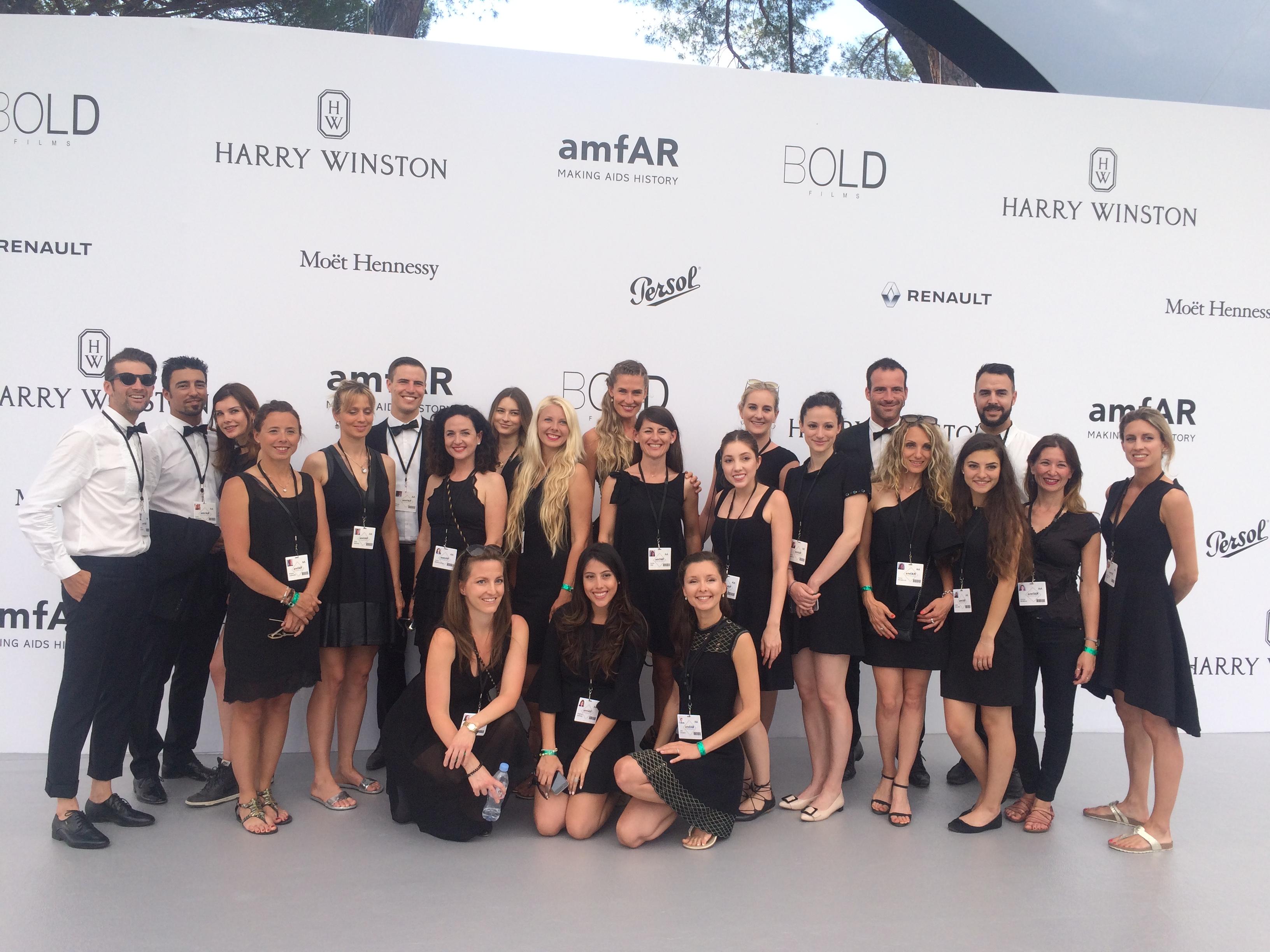 amfAR gala registration team 2017