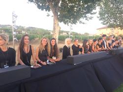 Hostesses at Leonardo DiCaprio Gala