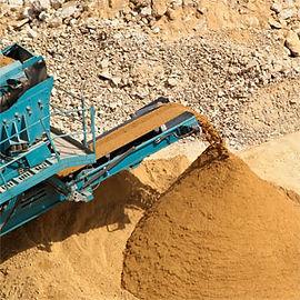 setacciare sabbia impianto cava inerti ferretti gravigliano