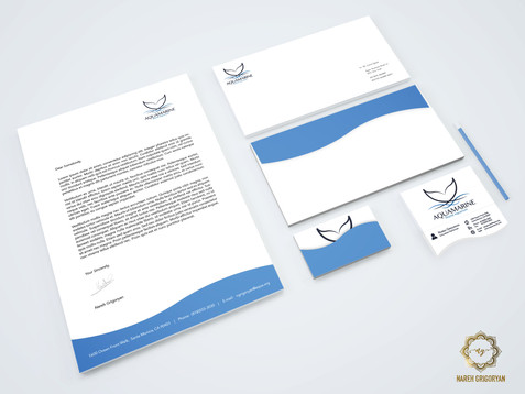 Aquamarine Stationery