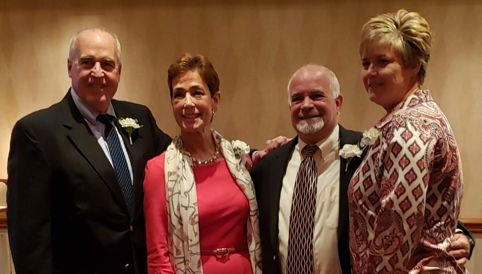 Honorees Jeff Spahr, Maria Marino, Steve Annunziato, and Missy Oman.  (photo by Anna Mastrolillo)