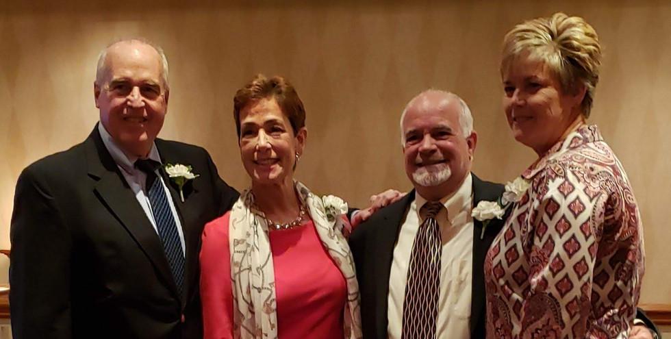 Honorees Jeff Spahr, Maria Marino, Steve Annunziato, and Missy Oman.  (photo by Anna Mastrolillo)