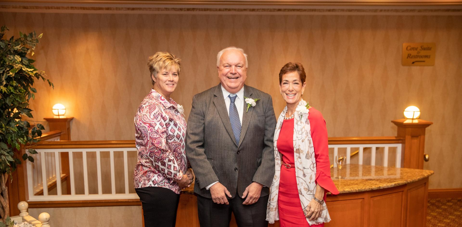 Honorees Missy Oman, Bob Kramer, and Maria Marino.  (photo by Josh Molaver)