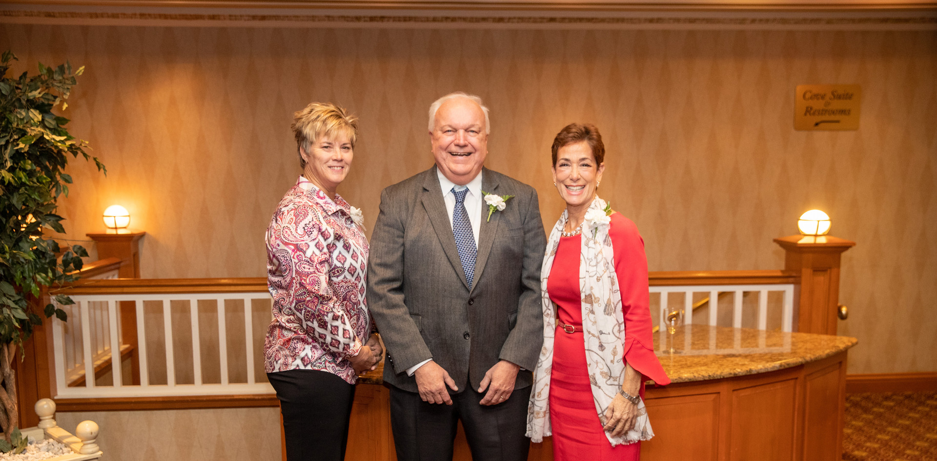 Honorees Missy Oman, Bob Kramer, and Maria Marino.  (photo by Josh Molaver)