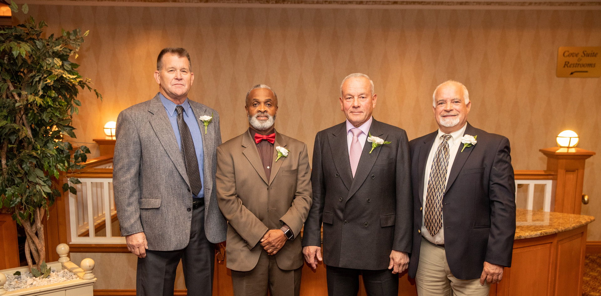 Honorees Tim Wagner, Harry Welfare, Felix Rodriguez, and Steve Annunziato.  (photo by Josh Molaver)