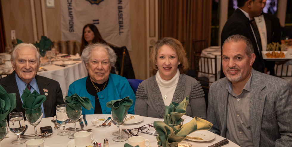 2010 Honoree Pete Correnty with his wife Barbara, sitting with attendees.  (photo by Anna Mastrolillo)
