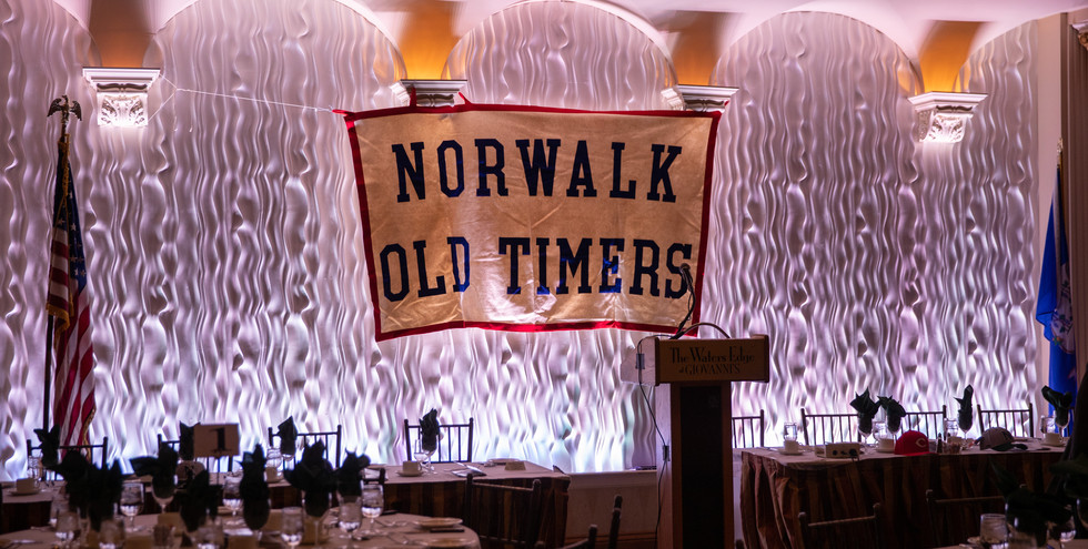 The annual Norwalk Old Timers Awards dinner was held on Wednesday evening, November 13, 2019 at The Water's Edge in Darien, CT.  A full house of 300 attendees turned out for this year's event, which recognized individuals who have distinguished themselves in local sports, while raising funds that awarded six scholarships to local high school students.  (photo by judie szuets)