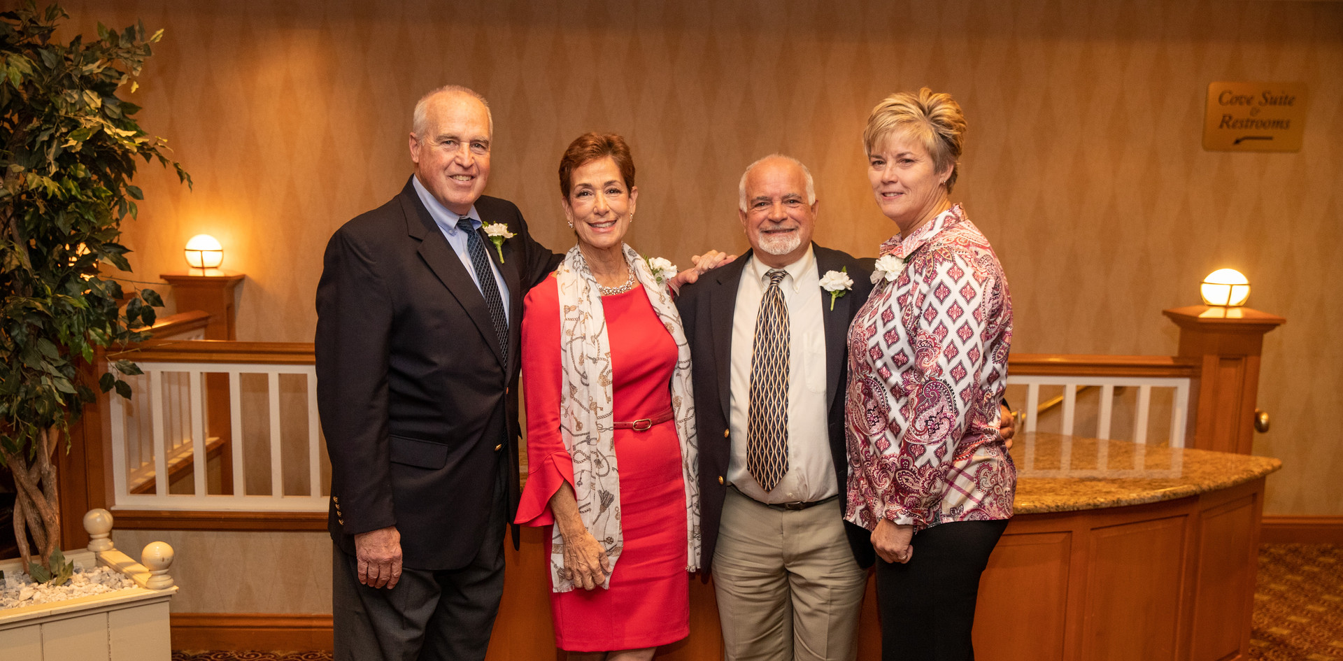 Honorees Jeff Spahr, Maria Marino, Steve Annunziato, and Missy Oman.  (photo by Josh Molaver)