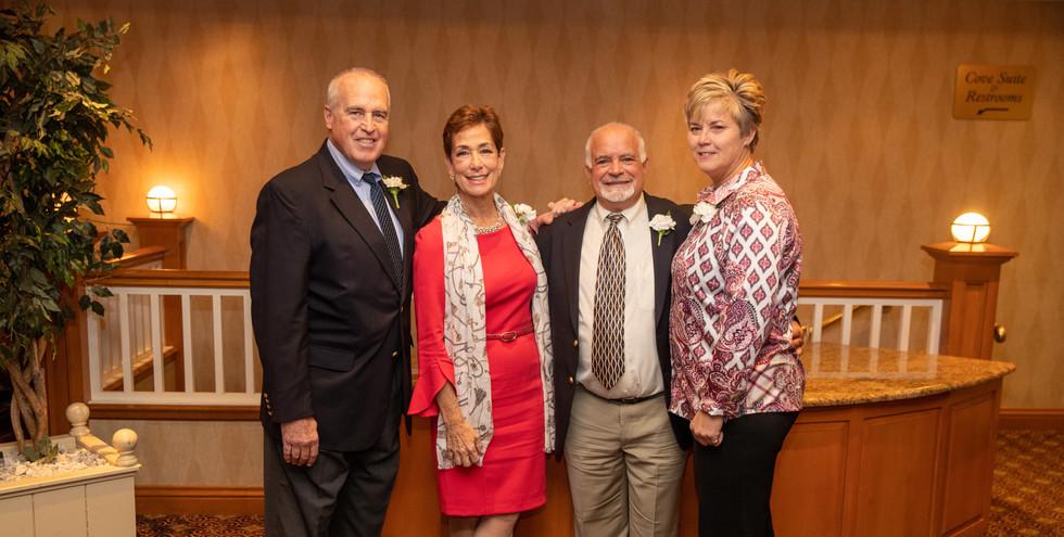 Honorees Jeff Spahr, Maria Marino, Steve Annunziato, and Missy Oman.  (photo by Josh Molaver)