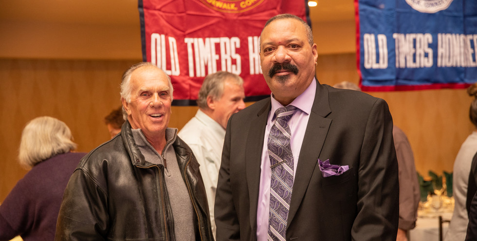 Ted Zakhar and Ken Roman, no strangers to local sports.  (photo by Josh Molaver)