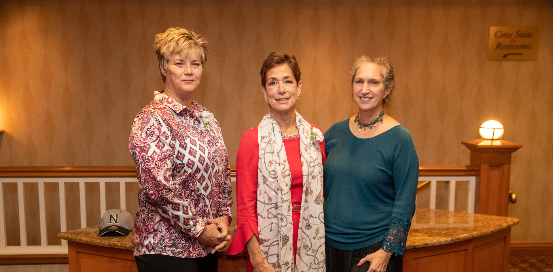 2019 honorees Missy Oman and Maria Marino with 2013 honoree Celia Bobrowsky.  (photo by Josh Molaver)