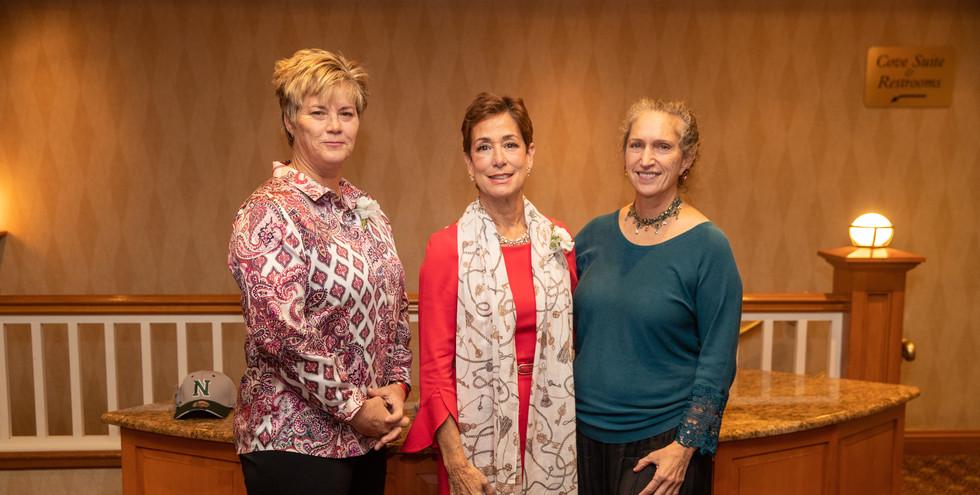 2019 honorees Missy Oman and Maria Marino with 2013 honoree Celia Bobrowsky.  (photo by Josh Molaver)