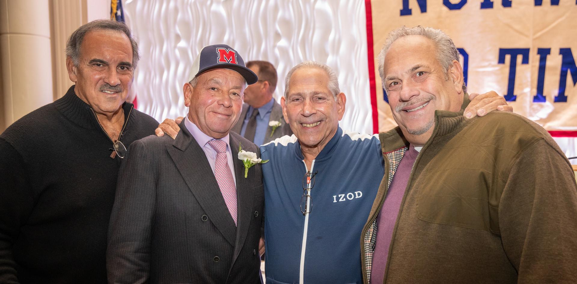 2014 honoree Rudy Gisolfi, 2019 honoree Felix Rodriquez, Richie Galbo, and Mike DiDio.  (photo by Josh Molaver)