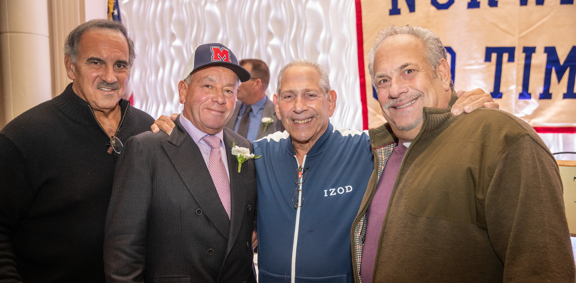 2014 honoree Rudy Gisolfi, 2019 honoree Felix Rodriquez, Richie Galbo, and Mike DiDio.  (photo by Josh Molaver)