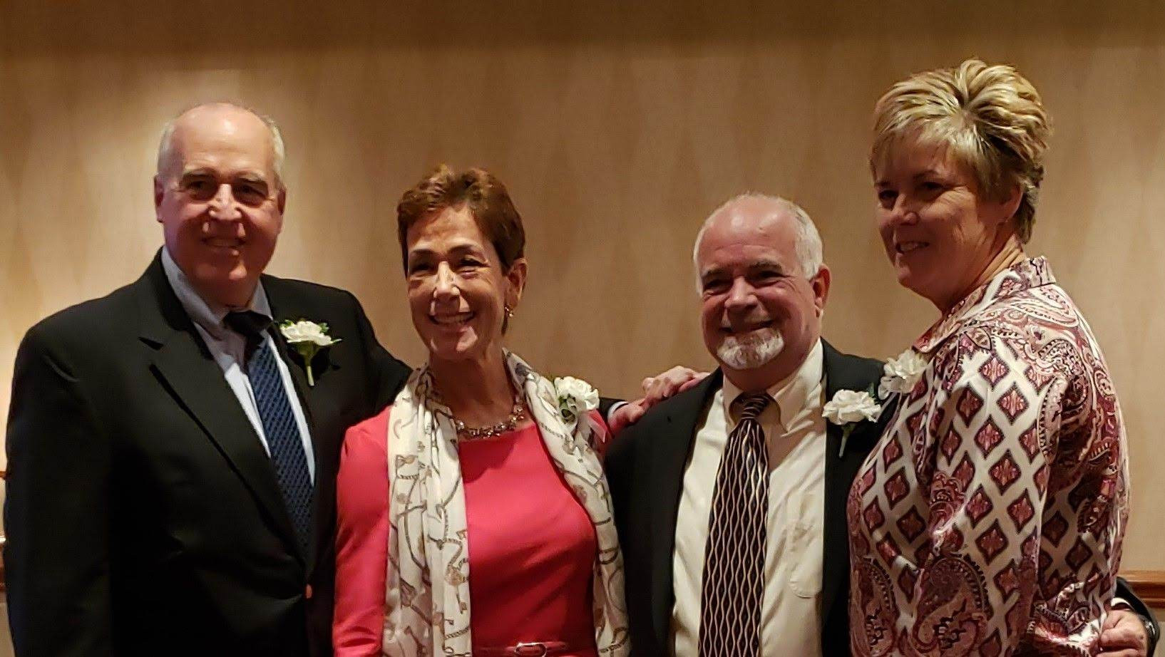 2019 Honorees Jeff Spahr, Maria Marino, Steve Annunziato, and Missy Oman.  (photo by Anna Mastrolillo)